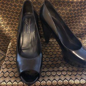 Donald J. Pliner Shoes - Black peep toe heel